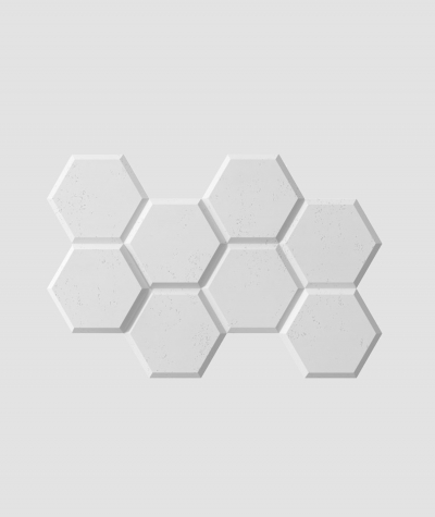 PB01 (B1 gray white) HEXAGON - 3D architectural concrete decor panel