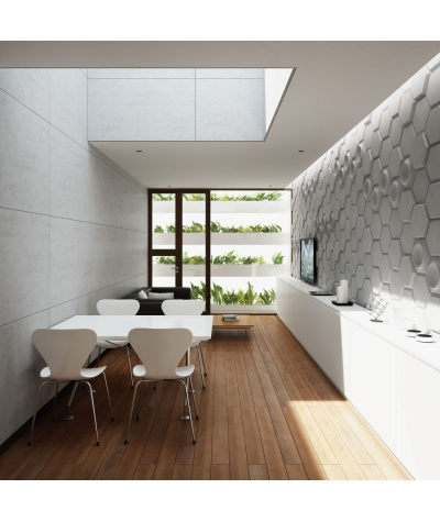 VT - PB01 (KS kość słoniowa) HEKSAGON - panel dekor 3D beton architektoniczny