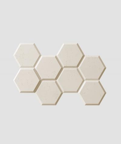PB01 (KS ivory) HEXAGON - 3D architectural concrete decor panel