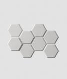 VT - PB01 (S51 szary ciemny 'mysi') HEKSAGON - panel dekor 3D beton architektoniczny