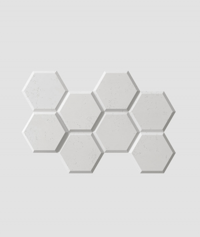 PB01 (S95 light gray 'dove') HEXAGON - 3D architectural concrete decor panel