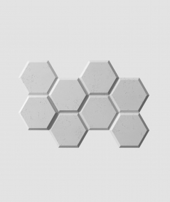 VT - PB01 (S96 szary ciemny) HEKSAGON - panel dekor 3D beton architektoniczny