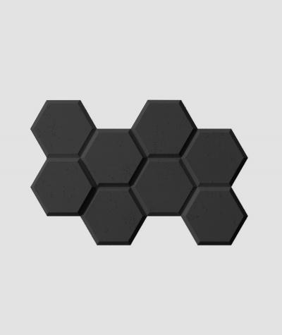 PB01 (B15 black) HEXAGON - 3D architectural concrete decor panel