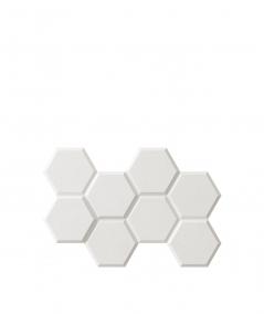 PB01 (BS snow white) HEXAGON - 3D architectural concrete decor panel