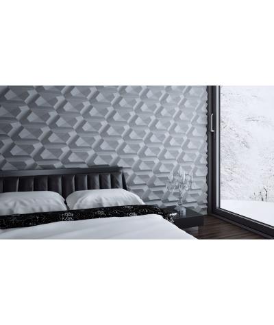 VT - PB02 (S50 light gray - mouse) DIAMOND - 3D architectural concrete decor panel