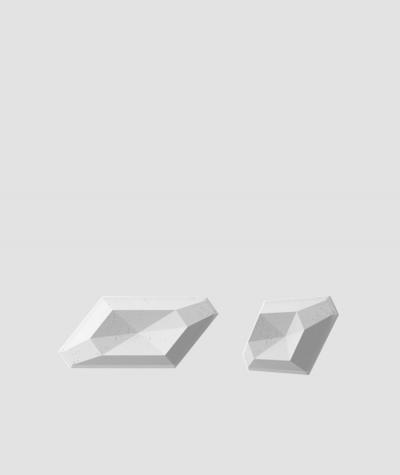 VT - PB02 (S50 szary jasny 'mysi') DIAMENT - panel dekor 3D beton architektoniczny