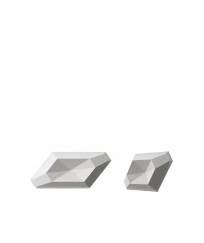 PB02 (S51 dark gray 'mouse') DIAMOND - 3D architectural concrete decor panel