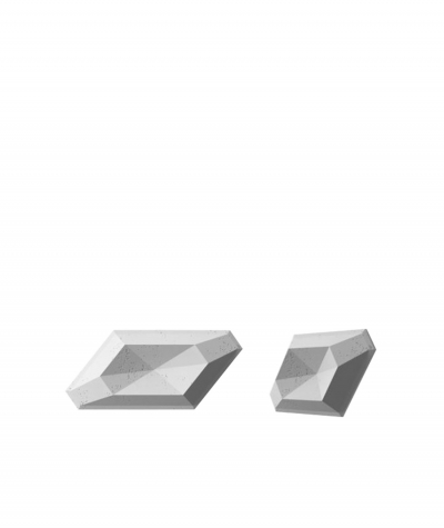 PB02 (S96 dark gray) DIAMOND - 3D architectural concrete decor panel