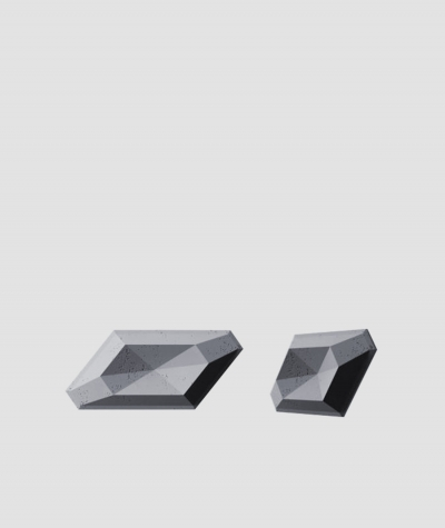 PB02 (B8 anthracite) DIAMOND - 3D architectural concrete decor panel