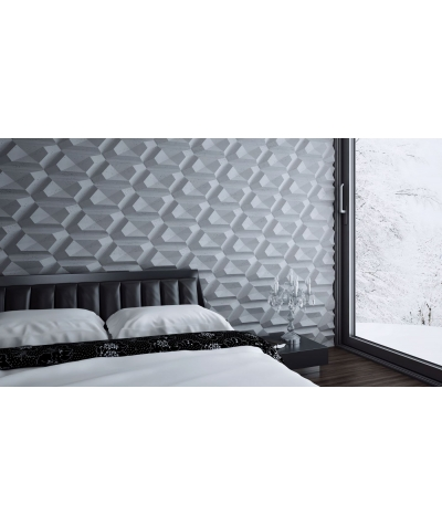 PB02 (B15 black) DIAMOND - 3D architectural concrete decor panel