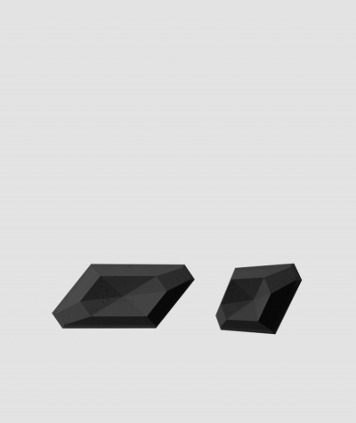 PB02 (B15 black) DIAMOND - 3D architectural concrete decor panel