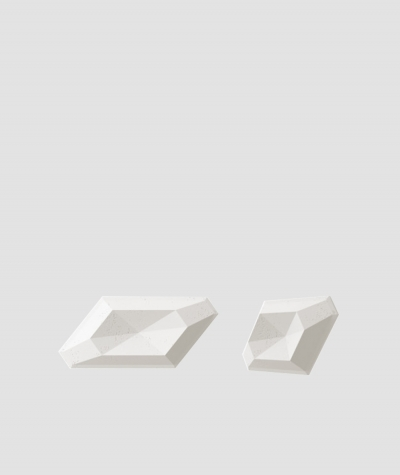 VT - PB02 (BS śnieżno biały) DIAMENT - panel dekor 3D beton architektoniczny