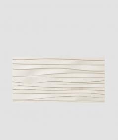 PB03 (B0 white) WAVES - 3D architectural concrete decor panel