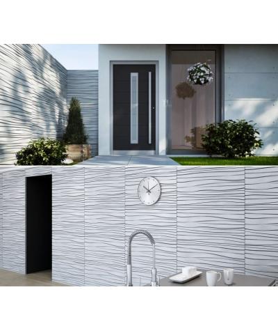 VT - PB03 (B0 biały) FALA - panel dekor 3D beton architektoniczny