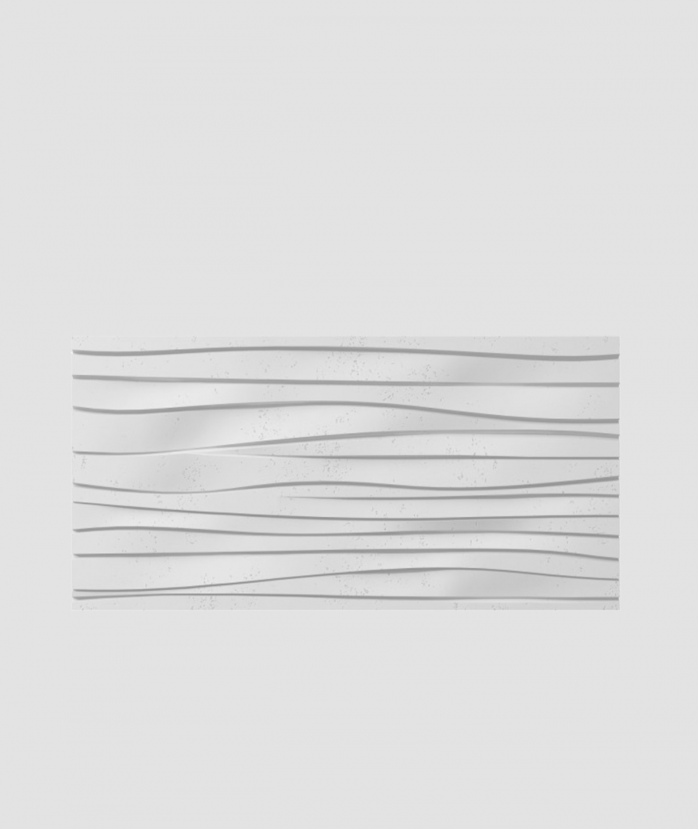 PB03 (B1 gray white) WAVES - 3D architectural concrete decor panel