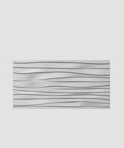 PB03 (S51 dark gray 'mouse') WAVES - 3D architectural concrete decor panel