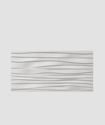 PB03 (S95 light gray 'dove') WAVES - 3D architectural concrete decor panel