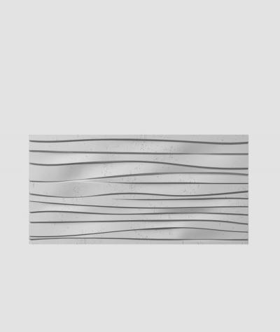 PB03 (S96 dark gray) WAVES - 3D architectural concrete decor panel