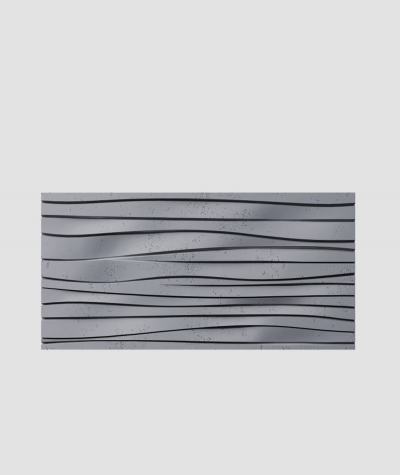 PB03 (B8 anthracite) WAVES - 3D architectural concrete decor panel