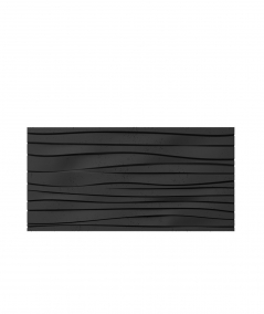 PB03 (B15 black) WAVES - 3D architectural concrete decor panel