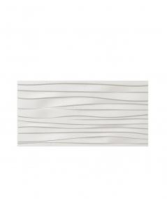 PB03 (BS snow white) WAVES - 3D architectural concrete decor panel