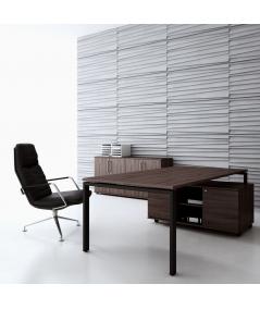 VT - PB04 (B1 siwo biały) ŻALUZJE - panel dekor 3D beton architektoniczny