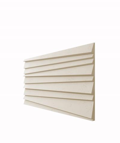 VT - PB04 (KS kość słoniowa) ŻALUZJE - panel dekor 3D beton architektoniczny