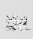DS Choco (biały - czarne kruszywo) - beton architektoniczny panel 3D