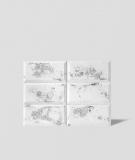 DS Choco (biały - srebrne kruszywo) - beton architektoniczny panel 3D