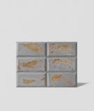 DS Choco (jasny popiel - złote kruszywo) - beton architektoniczny panel 3D