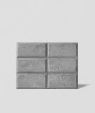 DS Choco (jasny popiel - srebrne kruszywo) - beton architektoniczny panel 3D