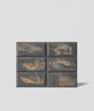 DS Choco (antracyt - złote kruszywo) - beton architektoniczny panel 3D