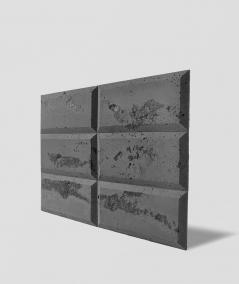 DS Choco (antracyt - czarne kruszywo) - beton architektoniczny panel 3D