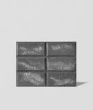 DS Choco (antracyt - srebrne kruszywo) - beton architektoniczny panel 3D