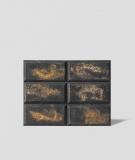 DS Choco (grafit - złote kruszywo) - beton architektoniczny panel 3D