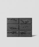 DS Choco (grafit - czarne kruszywo) - beton architektoniczny panel 3D
