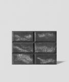 DS Choco (grafit - srebrne kruszywo) - beton architektoniczny panel 3D