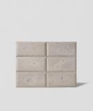 DS Choco (cappuccino - srebrne kruszywo) - beton architektoniczny panel 3D