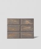 DS Choco (brązowy - złote kruszywo) - beton architektoniczny panel 3D