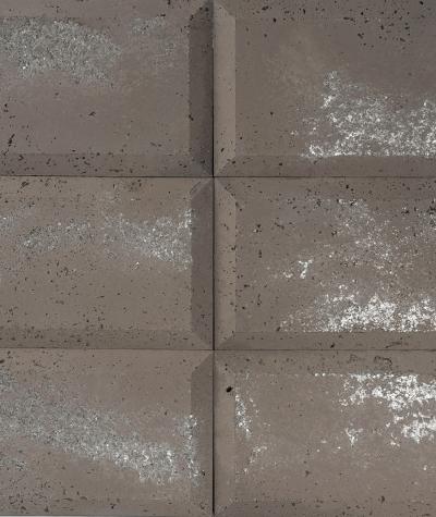 DS Choco (brązowy - srebrne kruszywo) - beton architektoniczny panel 3D