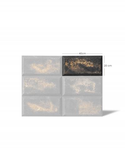 DS Choco 3D (graphite) - architectural concrete