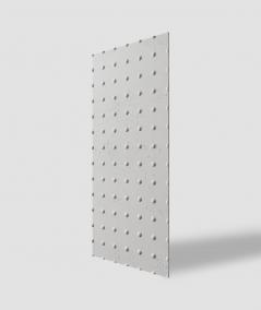VT - PB55 (B1 siwo biały) KROPKI - Panel dekor 3D beton architektoniczny
