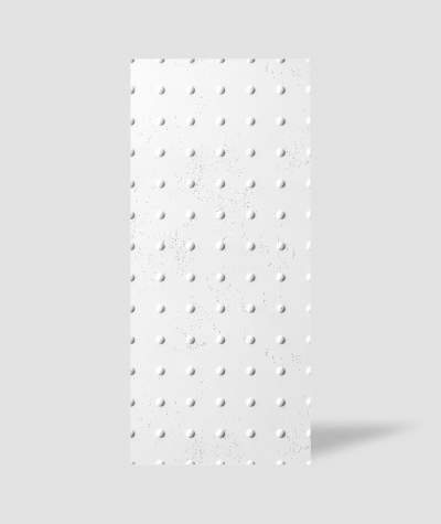 VT - PB55 (BS śnieżno biały) KROPKI - Panel dekor 3D beton architektoniczny