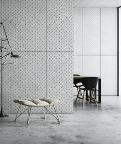 VT - PB54 (B0 biały) BLACHA - Panel dekor 3D beton architektoniczny