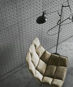 VT - PB54 (B1 siwo biały) BLACHA - Panel dekor 3D beton architektoniczny