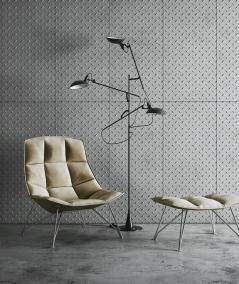 VT - PB54 (S50 light gray - mouse) PLATE - 3D decorative panel architectural concrete