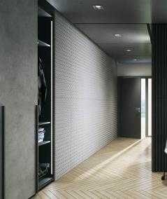 VT - PB53 (S50 light gray - mouse) PLATE - 3D decorative panel architectural concrete