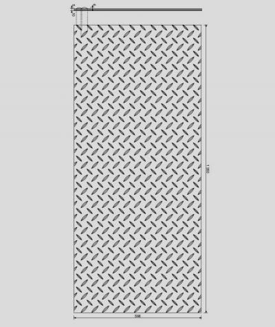VT - PB53 (B0 white) PLATE - 3D decorative panel architectural concrete