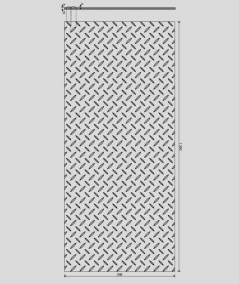 VT - PB53 (B1 gray white) PLATE - 3D decorative panel architectural concrete