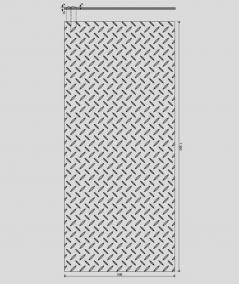 VT - PB53 (S96 dark gray) PLATE - 3D decorative panel architectural concrete